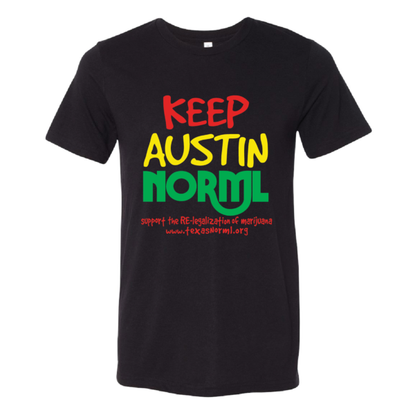 Keep Austin NORML black tee