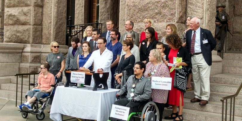 Patients at the Capitol on 4/25/17 holding a Press Conference asking for a hearing for HB 2107
